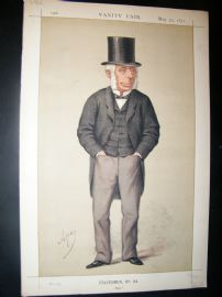 Vanity Fair Print 1871 Michael Thomas Bass, Politics